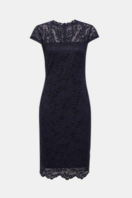 bc4c6ad35cc1ae Esprit - Etui-Kleid aus Spitze mit Stretchkomfort im Online Shop kaufen