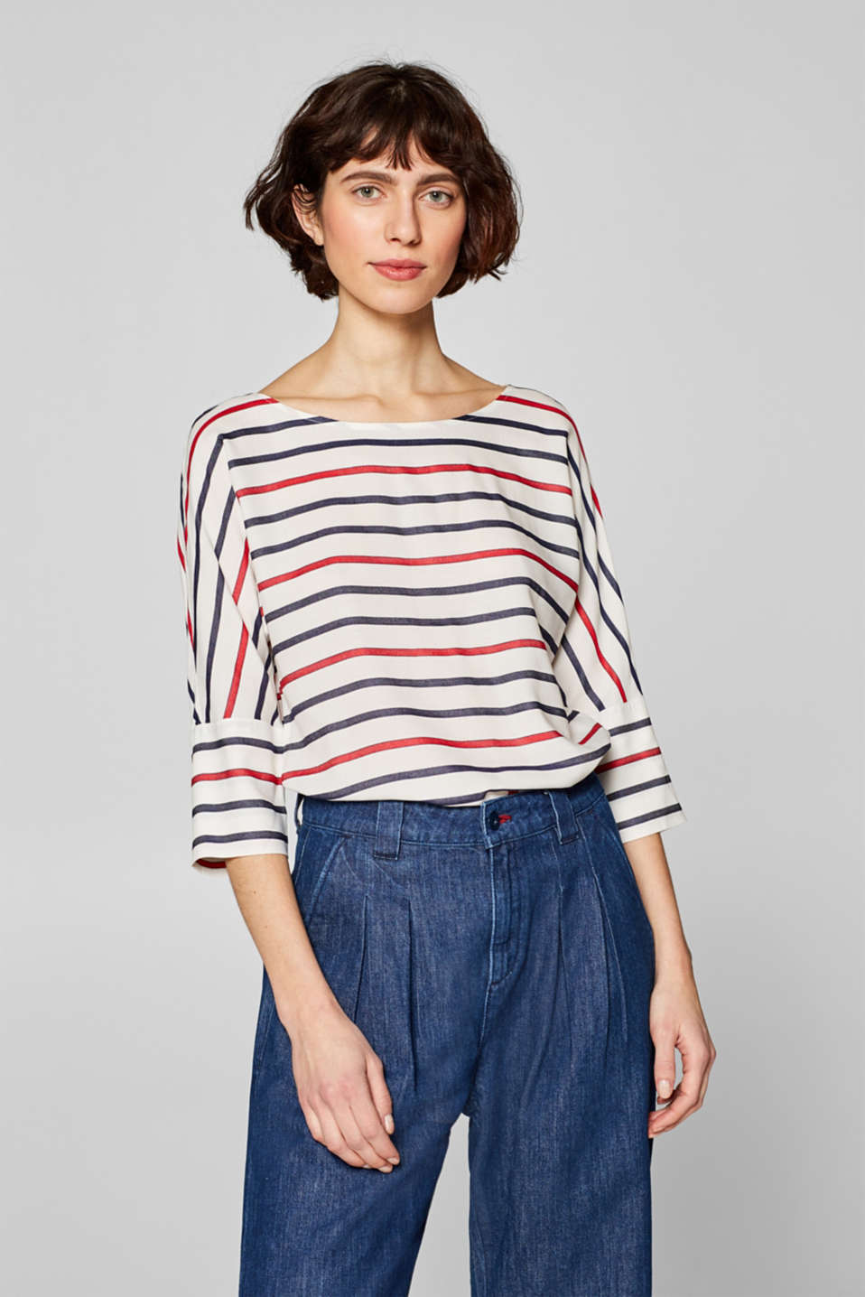 Esprit - Striped blouse with raglan sleeves