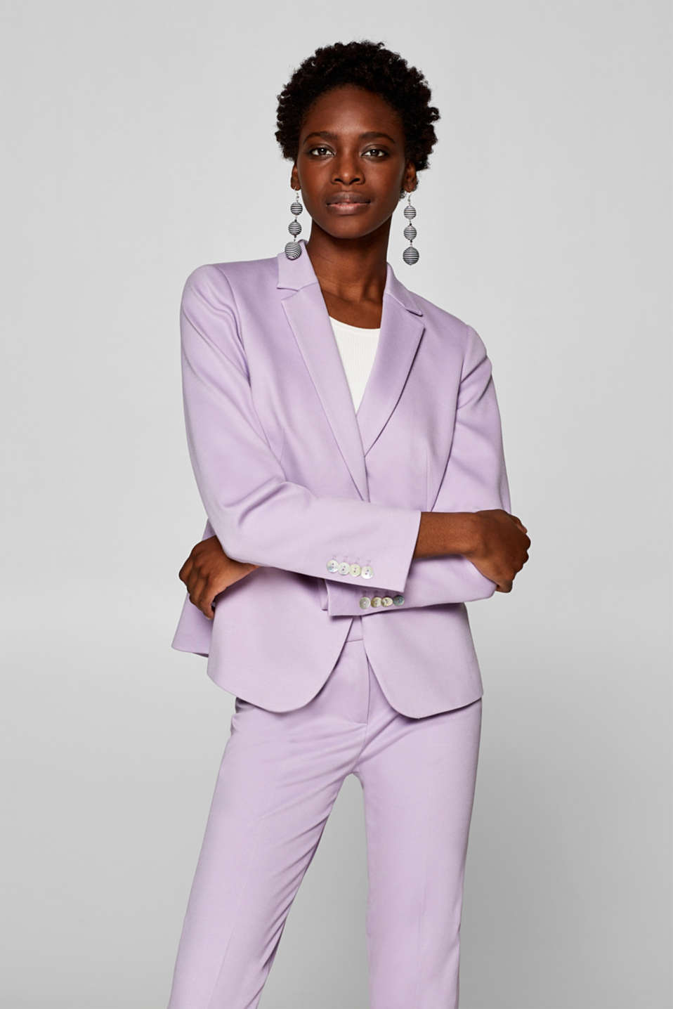 Esprit - LILAC Mix + Match -stretchbleiseri