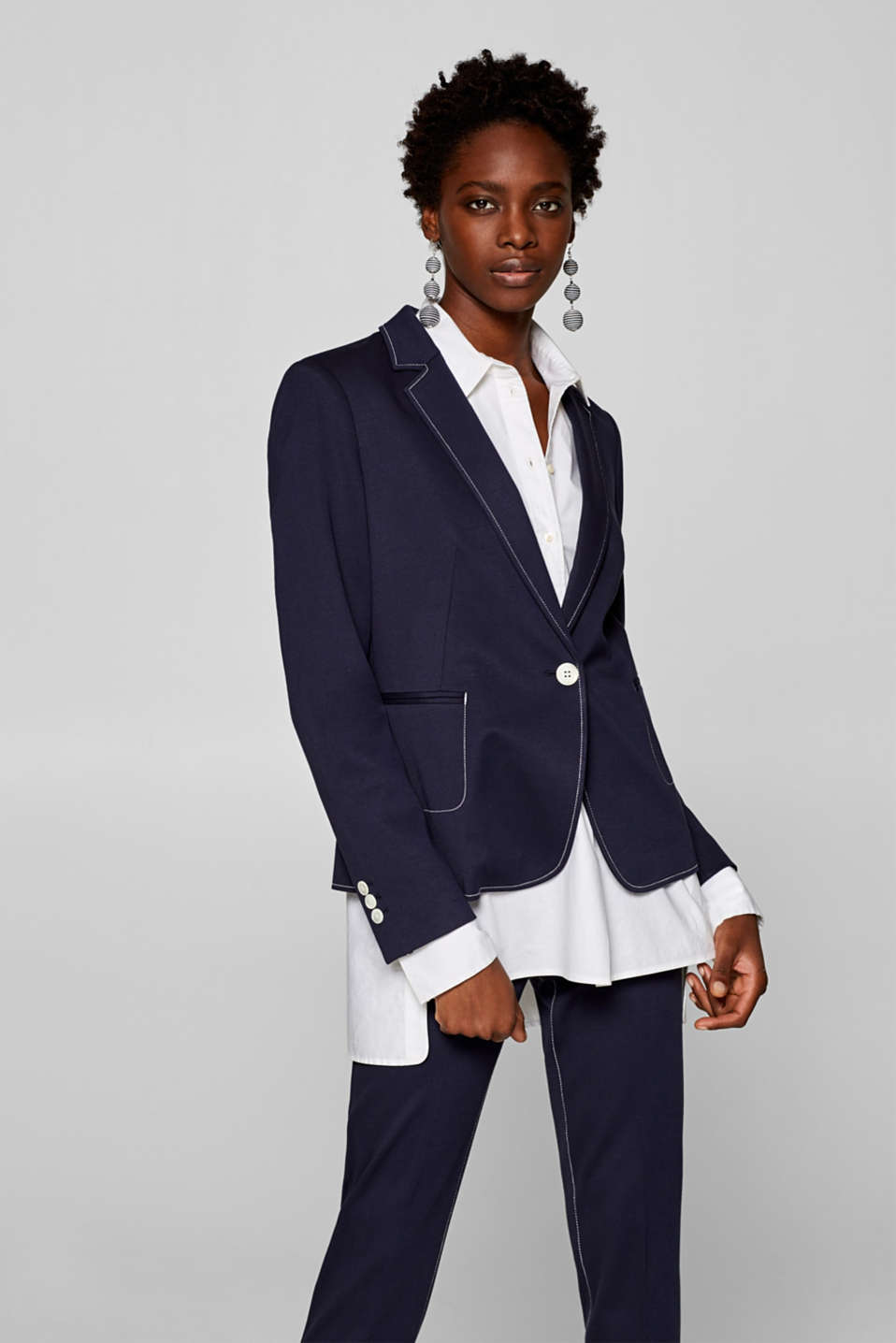 Esprit - Blazer stretch Mix + Match SURPIQÛRES