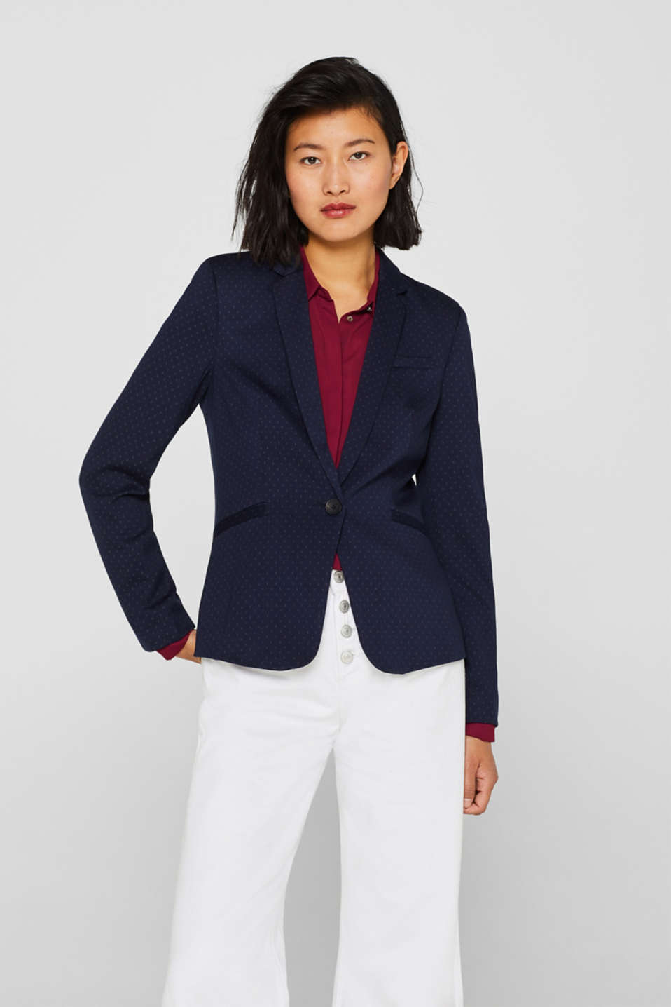 Esprit - Finely textured stretch blazer
