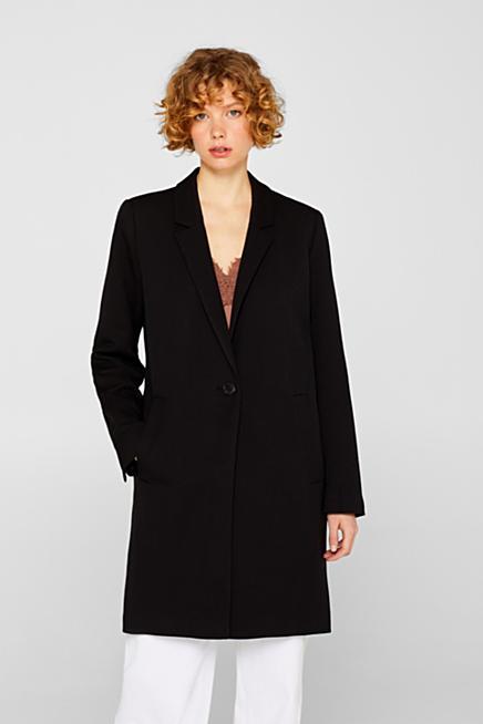 6bcbbaa372eb Manteau blazer en maille piquée texturée