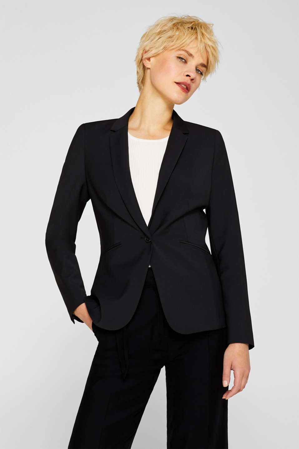Esprit - ACTIVE SUIT Mix + Match stretch blazer