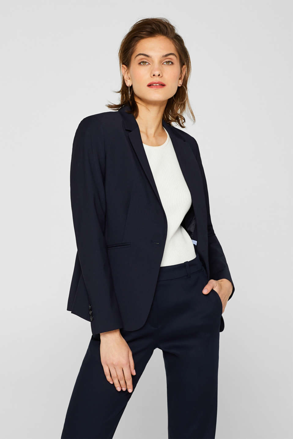 Esprit - ACTIVE SUIT Mix + Match Stretch-Blazer