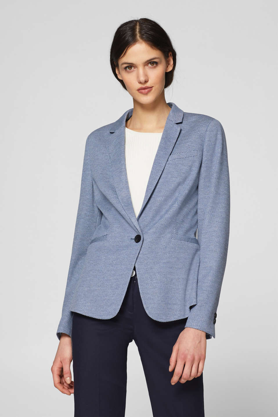 Esprit - Soft blazer with a two-tone texture