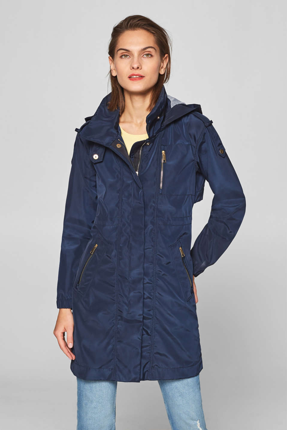 Esprit - Weatherproof parka with jersey lining