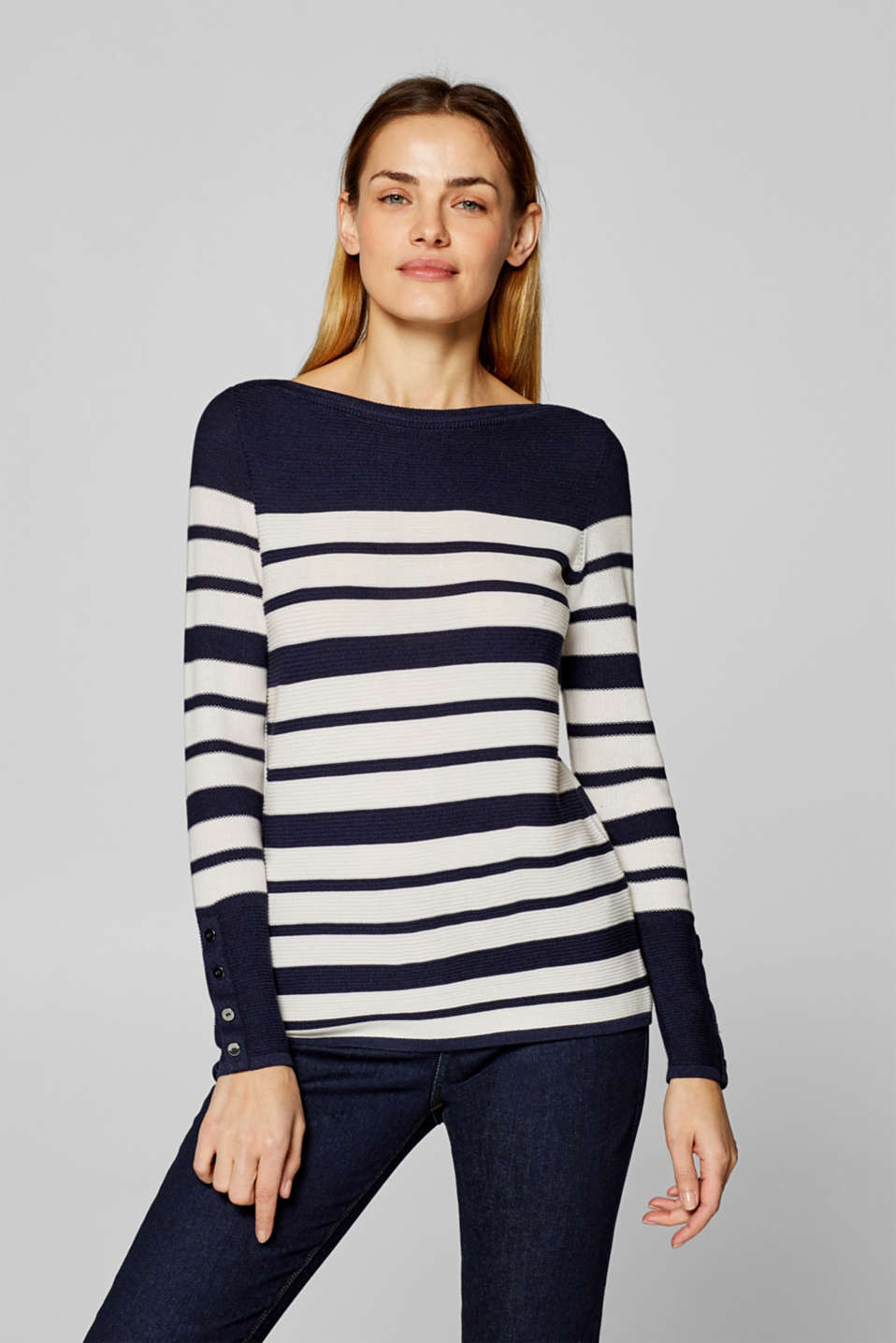 Esprit - Jumper with a mixed texture