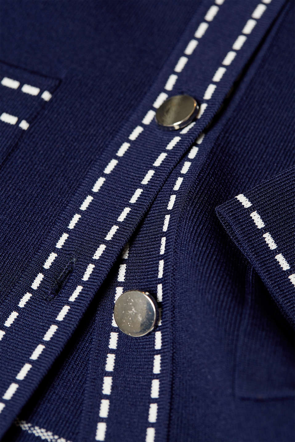 Cardigan with contrasting details, NAVY, detail image number 5