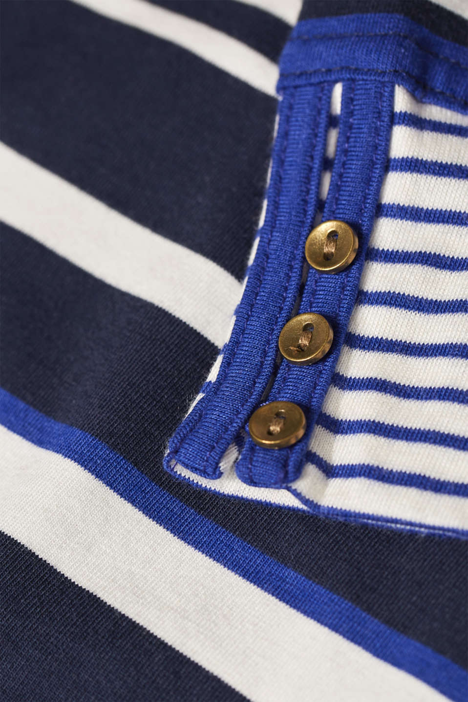 Striped, stretchy long sleeve top with cuffs, NAVY 2, detail image number 4