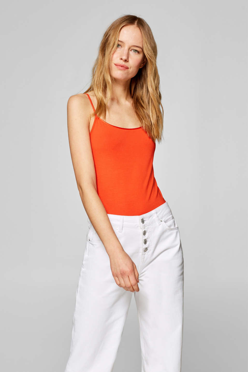 Esprit - Stretch top with spaghetti straps
