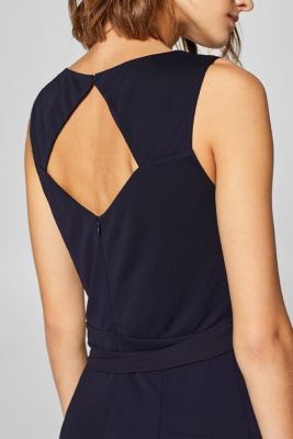 6dbcd3290459 Esprit - Jumpsuit med rosett bak i Esprits Online-Shop