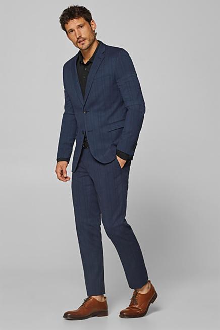 Mix + Match de cuadros Príncipe de Gales en azul  pantalón de traje 21c5f7f4d6bb