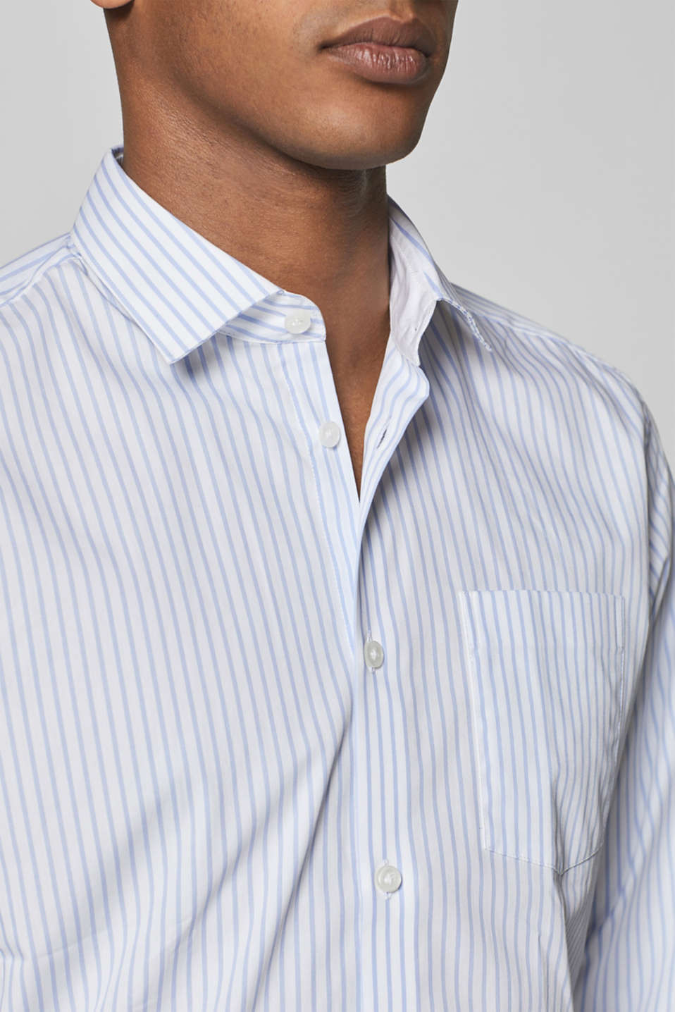 Shirts woven Slim fit, WHITE, detail image number 2