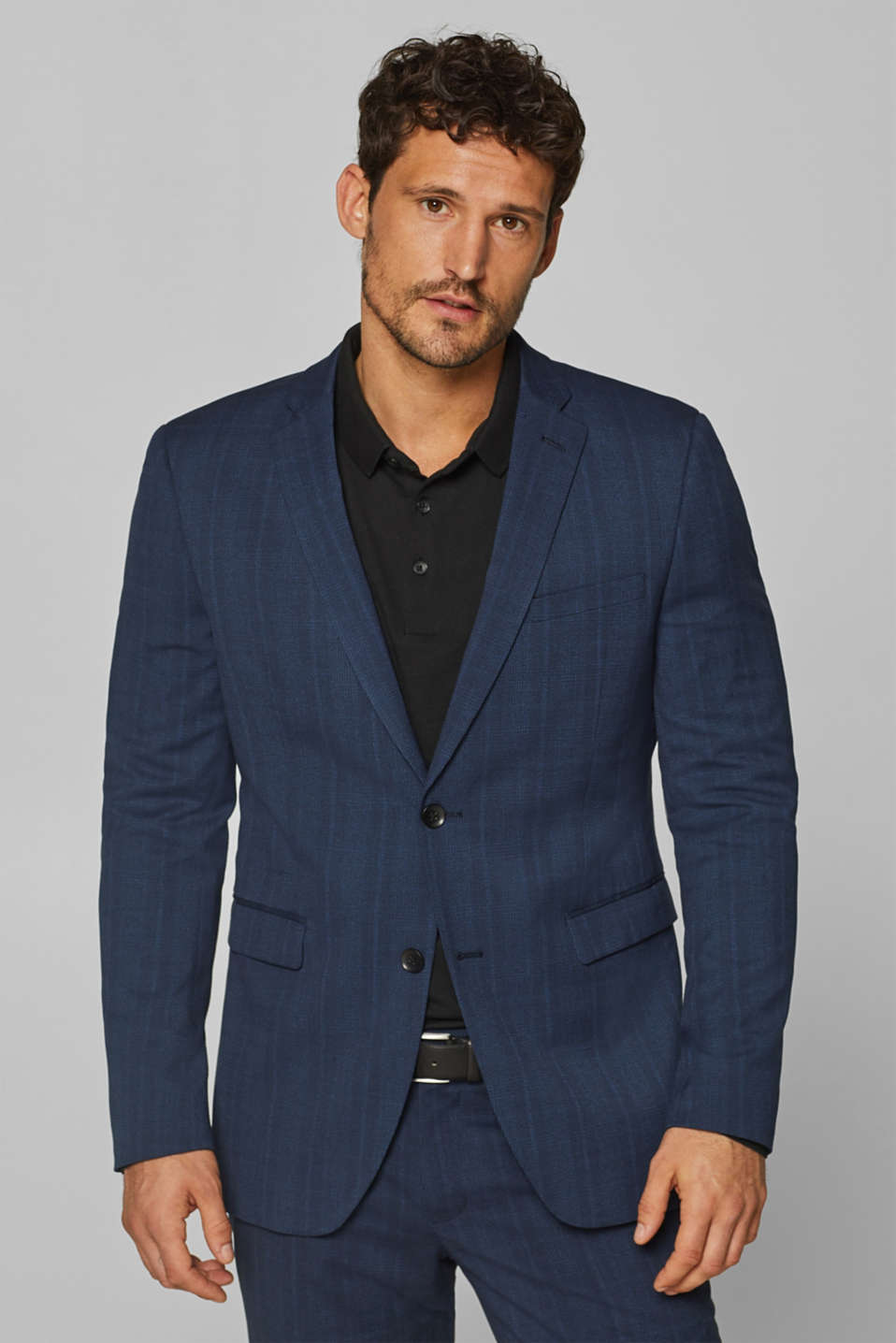 Esprit - BLUE GLENCHECK mix + match: colbert