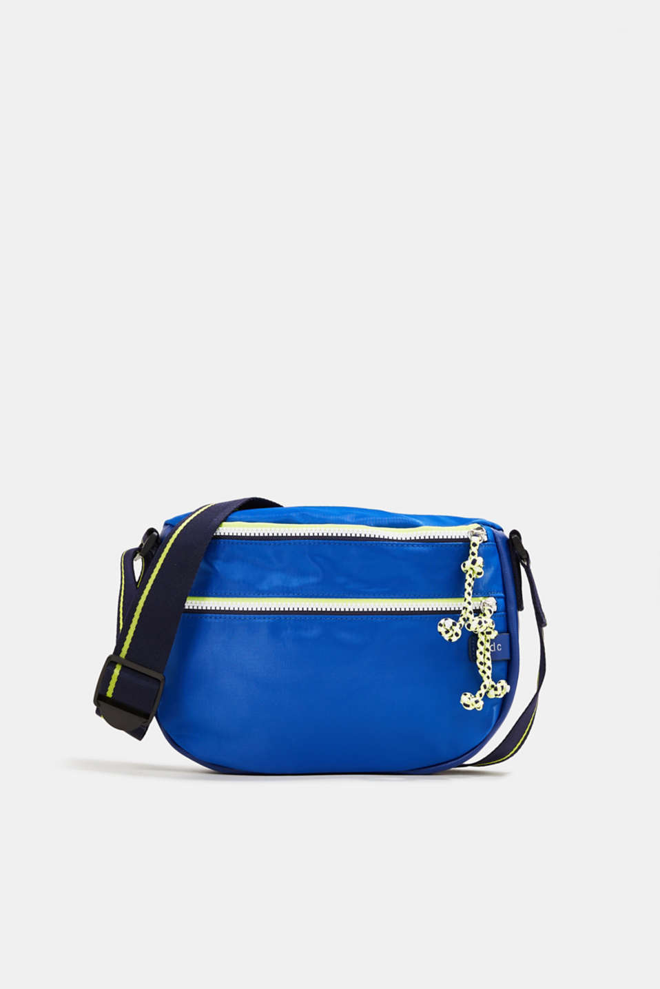 Nylon shoulder bag with a zip, BRIGHT BLUE, detail image number 0