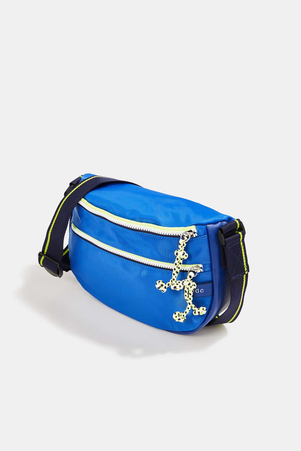 Nylon shoulder bag with a zip, BRIGHT BLUE, detail image number 2