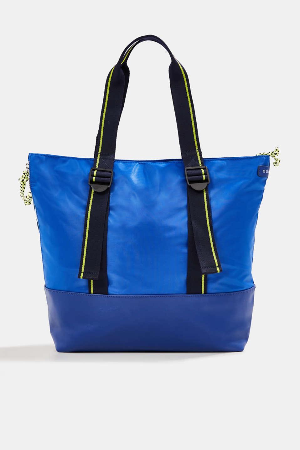 Nylon tote bag, BRIGHT BLUE, detail image number 0