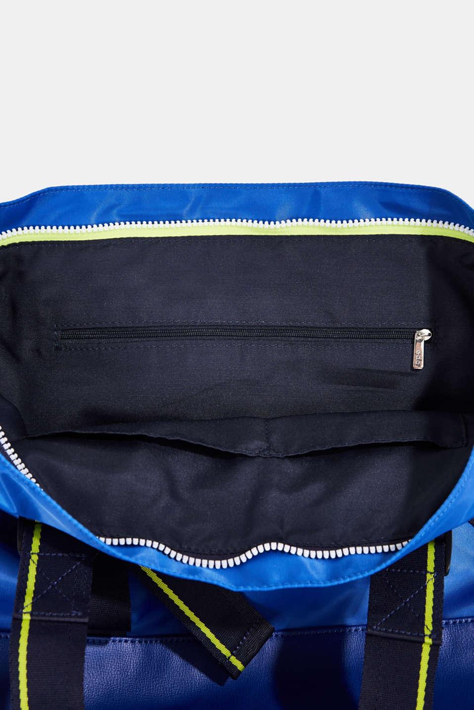 Nylon tote bag, BRIGHT BLUE, detail image number 4