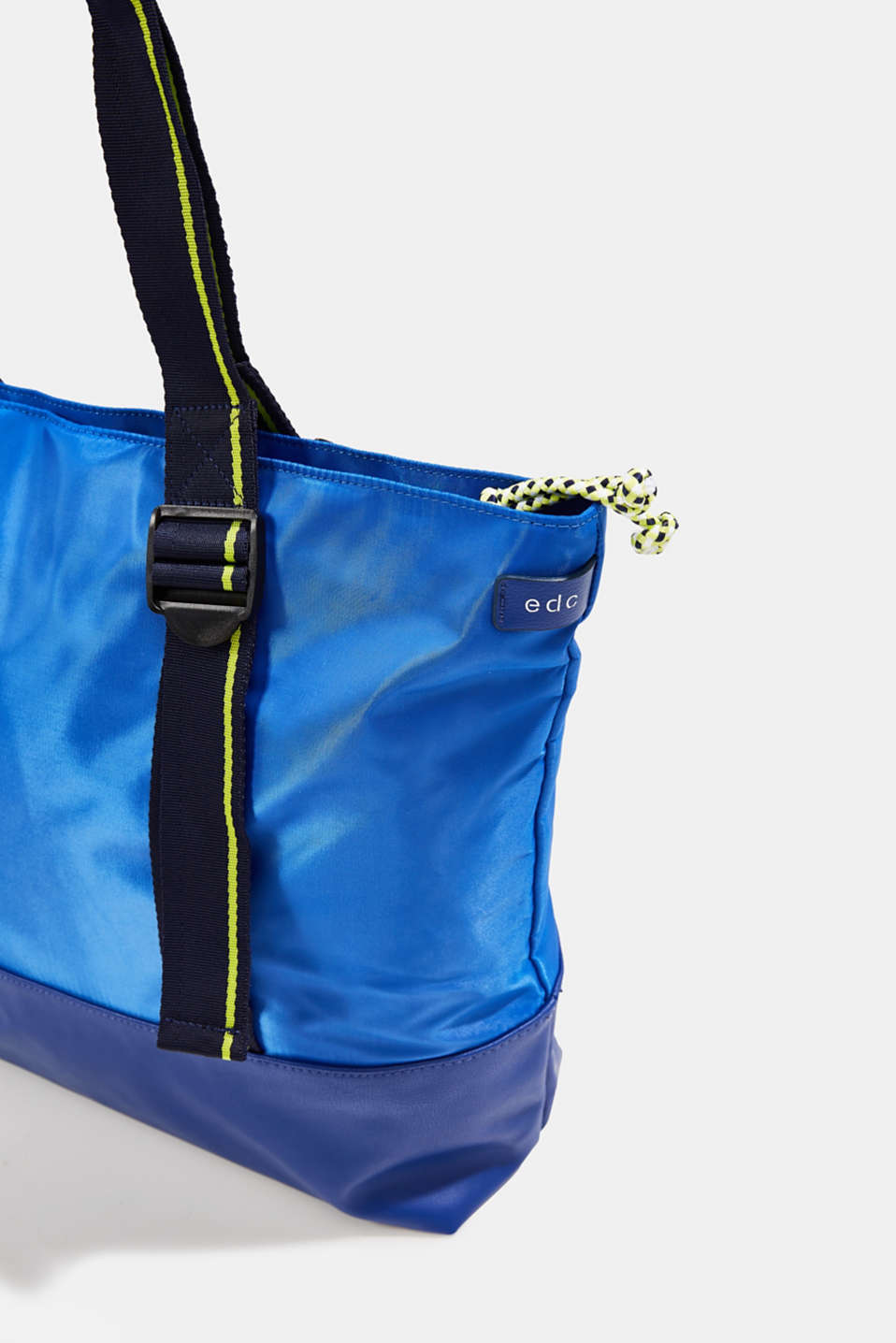 Nylon tote bag, BRIGHT BLUE, detail image number 3