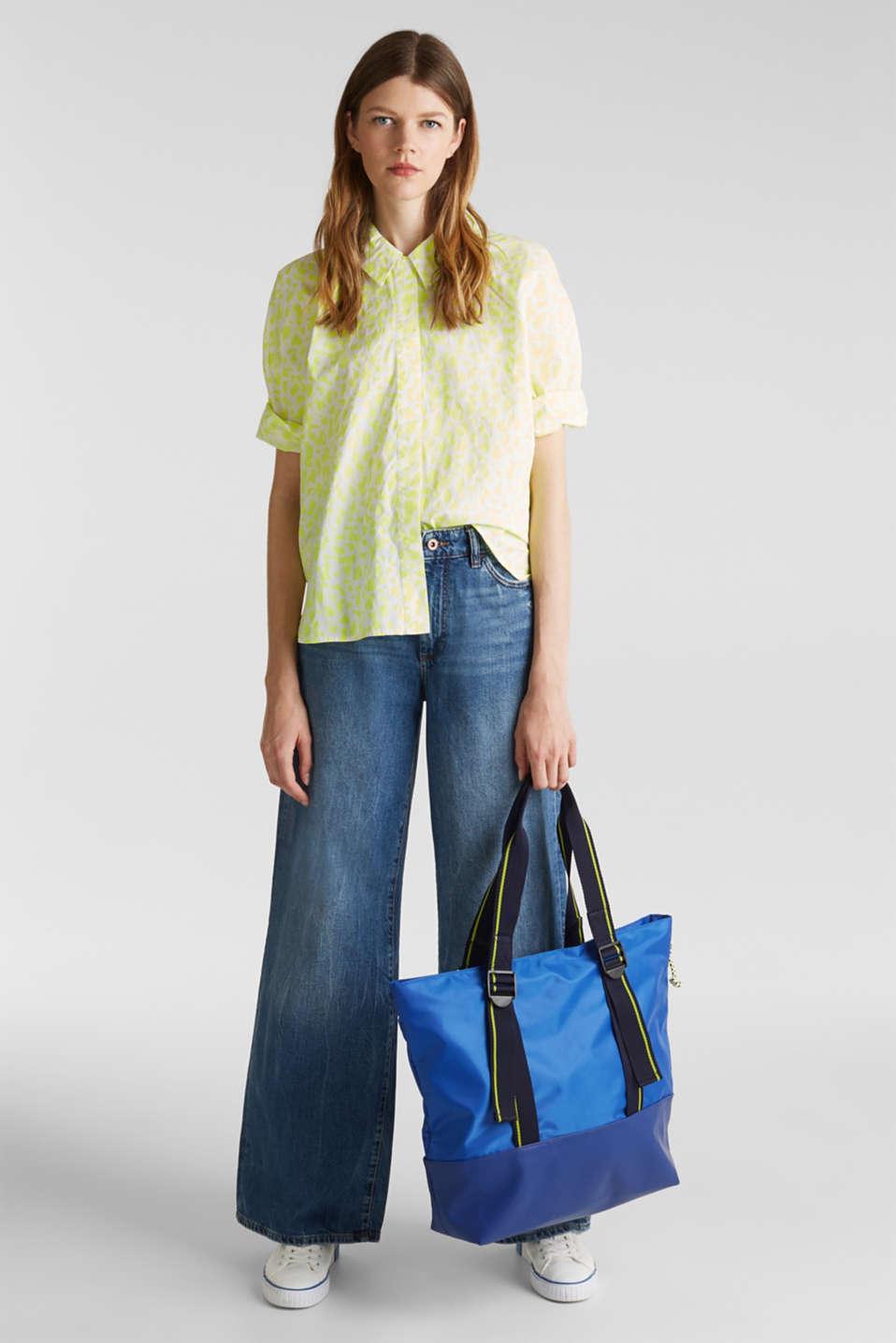 Nylon tote bag, BRIGHT BLUE, detail image number 1