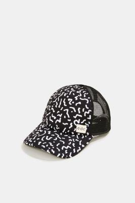 Mesh cap with a Memphis print, BLACK, detail