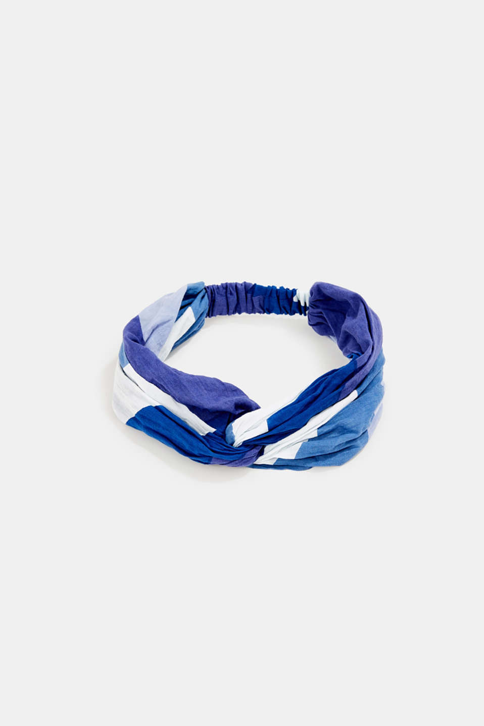 Colour block hairband, 100% cotton, NAVY, detail image number 0