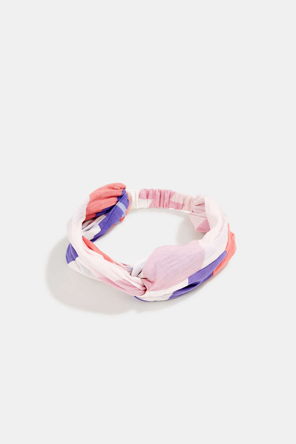 edc - Colour block hairband, 100% cotton