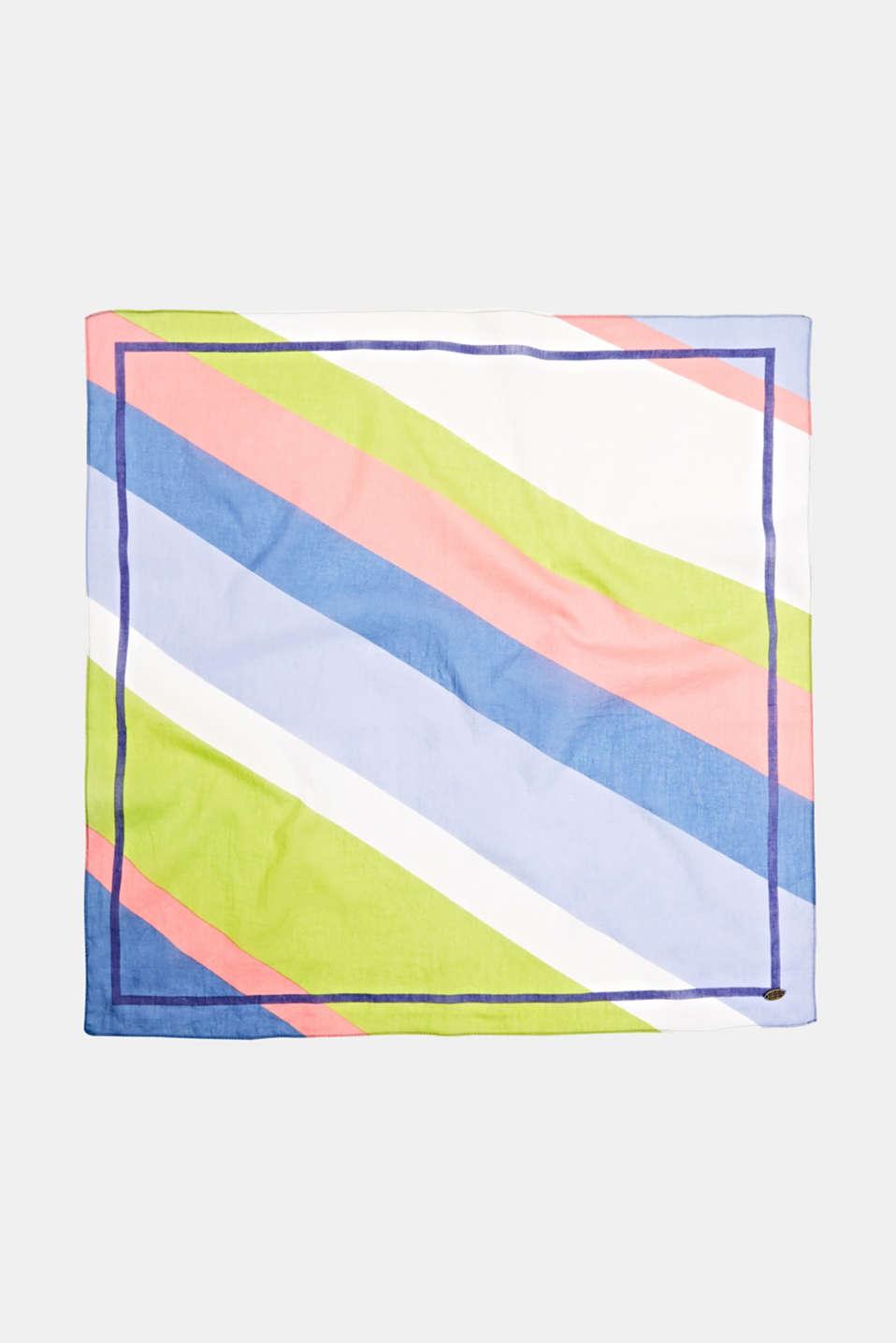 Bandana with block stripes, 100% cotton, CITRUS GREEN, detail image number 3