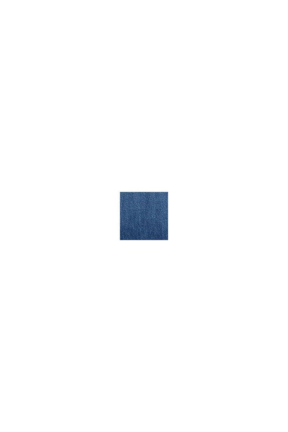 Denim culotte met opgestikte zakken, BLUE DARK WASHED, swatch