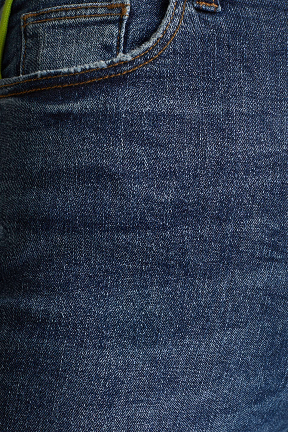 Jeans with neon piping and organic cotton, BLUE MEDIUM WASH, detail image number 4