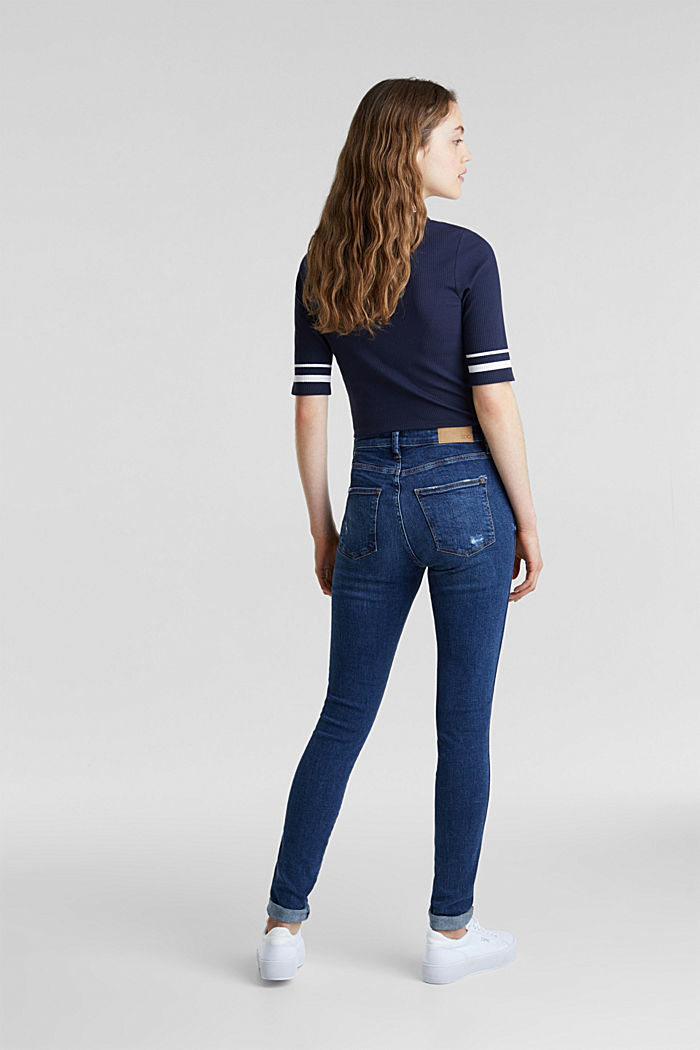 Two-button jeans with new pockets, BLUE DARK WASHED, detail image number 3