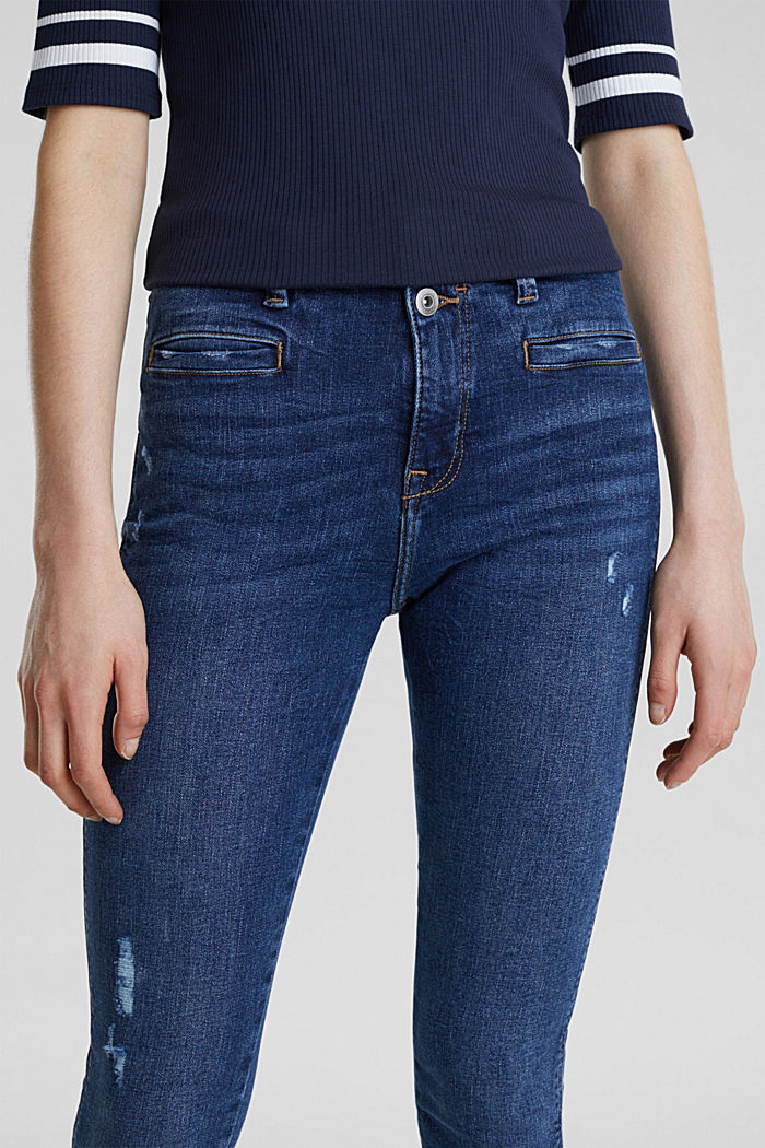 Two-button jeans with new pockets, BLUE DARK WASHED, detail image number 2