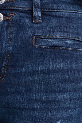 Two-button jeans with new pockets, BLUE DARK WASH, detail