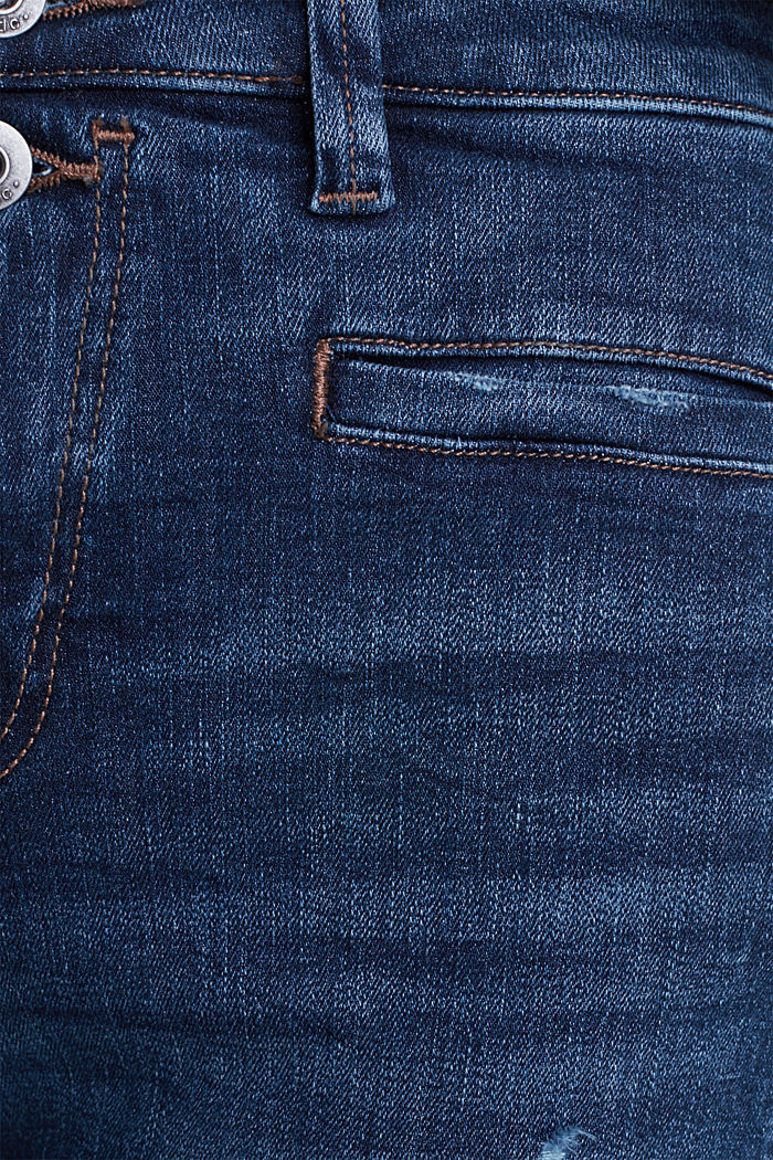 Two-button jeans with new pockets, BLUE DARK WASHED, detail image number 4