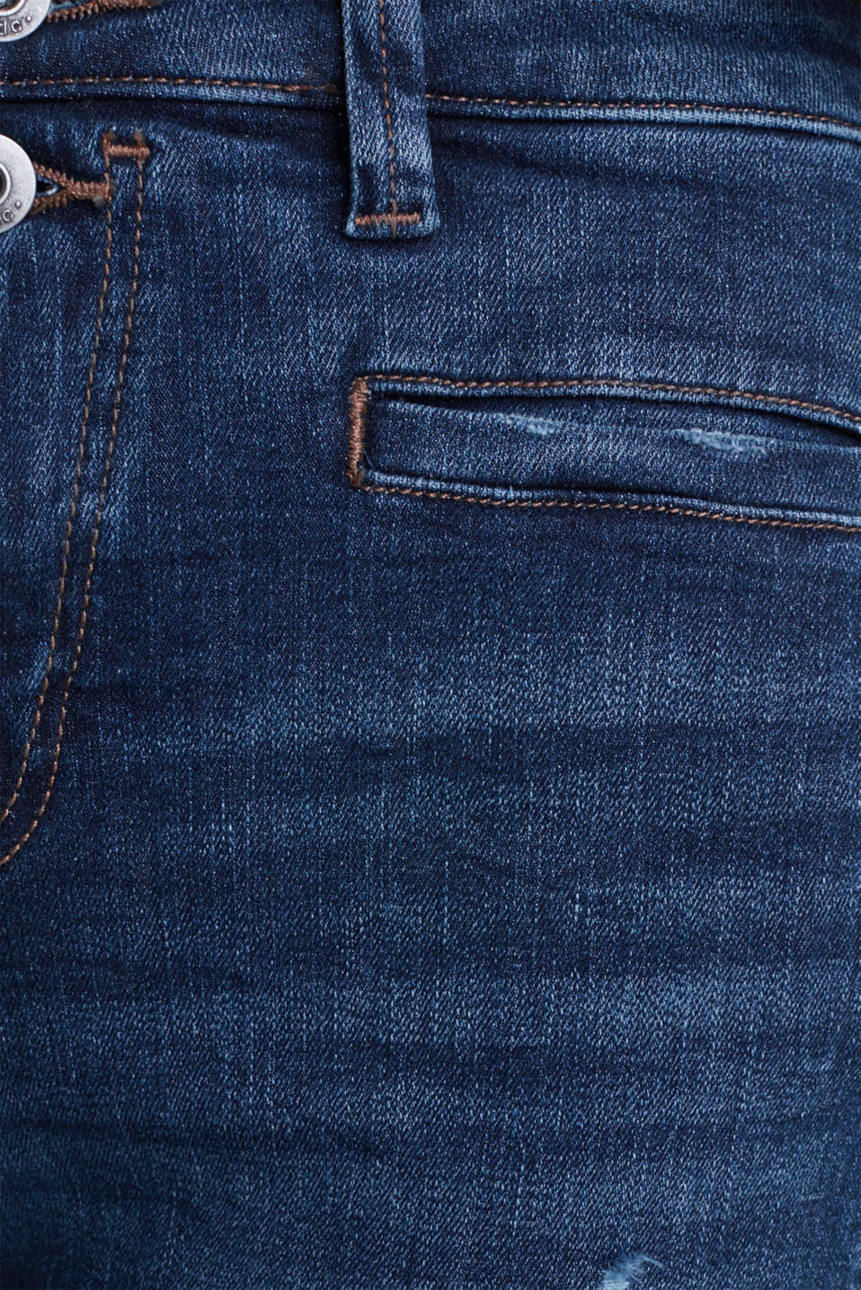 Two-button jeans with new pockets, BLUE DARK WASH, detail image number 4