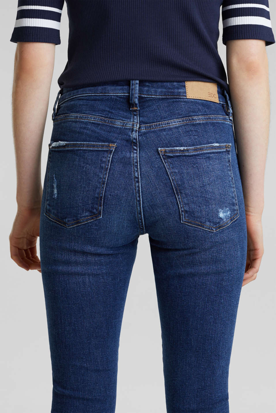 Two-button jeans with new pockets, BLUE DARK WASH, detail image number 5