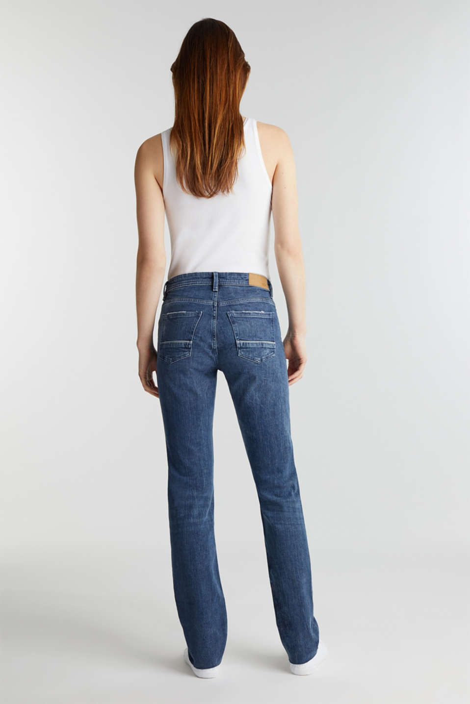 Vintage-style jeans with piping, BLUE MEDIUM WASH, detail image number 2