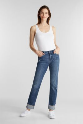 Vintage-style jeans with piping, BLUE MEDIUM WASH, detail