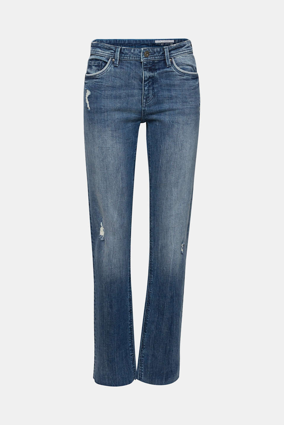 Vintage-style jeans with piping, BLUE MEDIUM WASH, detail image number 5