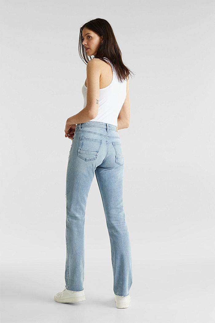 Vintage-style jeans with piping, BLUE LIGHT WASHED, detail image number 3