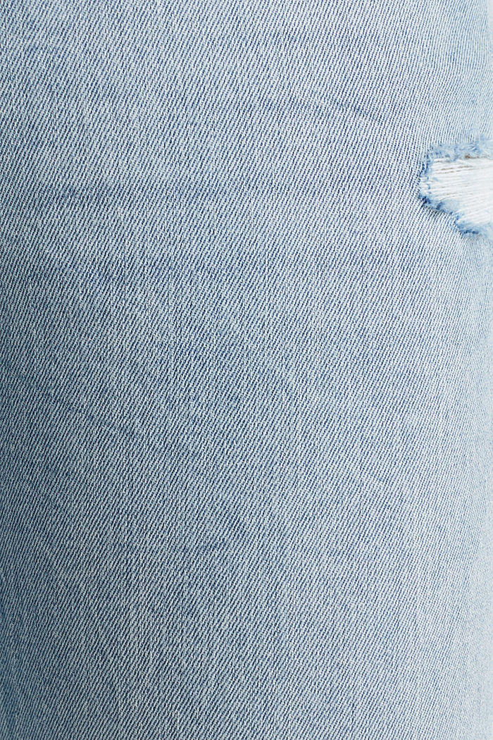 Vintage-style jeans with piping, BLUE LIGHT WASHED, detail image number 4