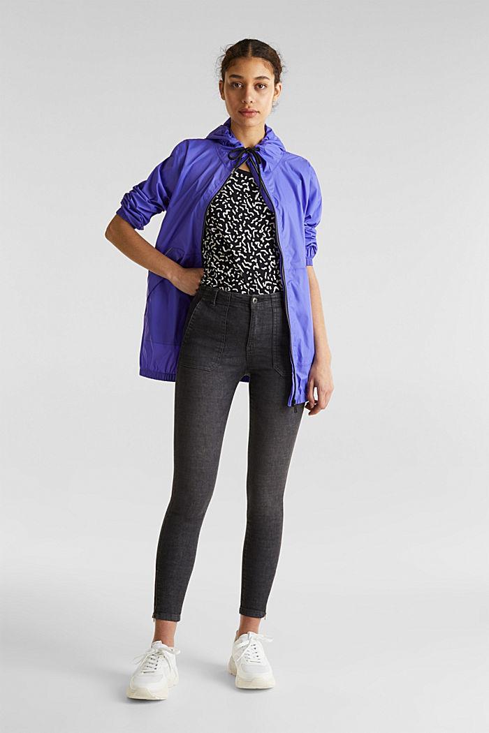 Knöchellange Hose mit Zippern, BLACK, detail image number 1