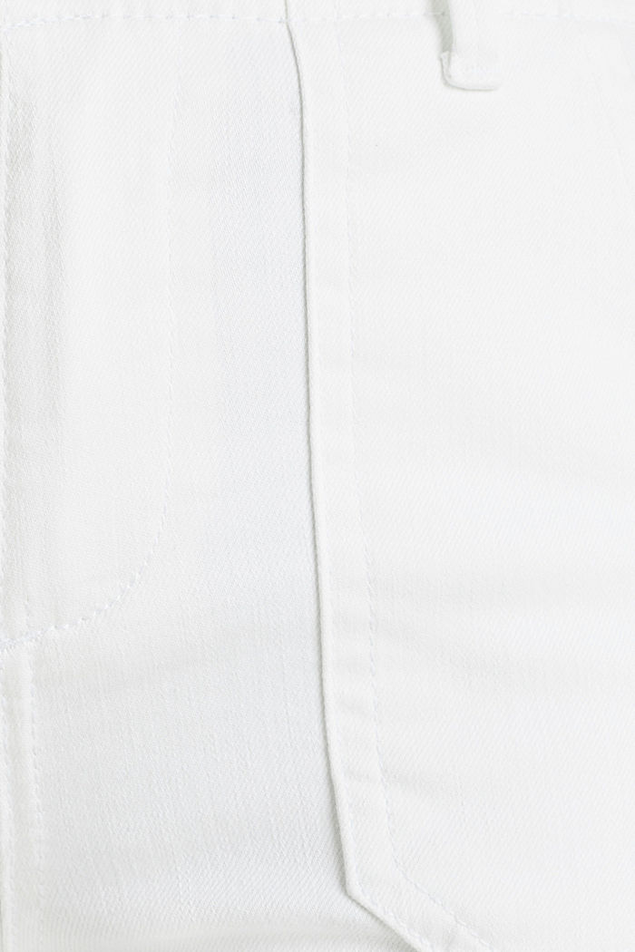 Ankle-length trousers with zips, WHITE, detail image number 4