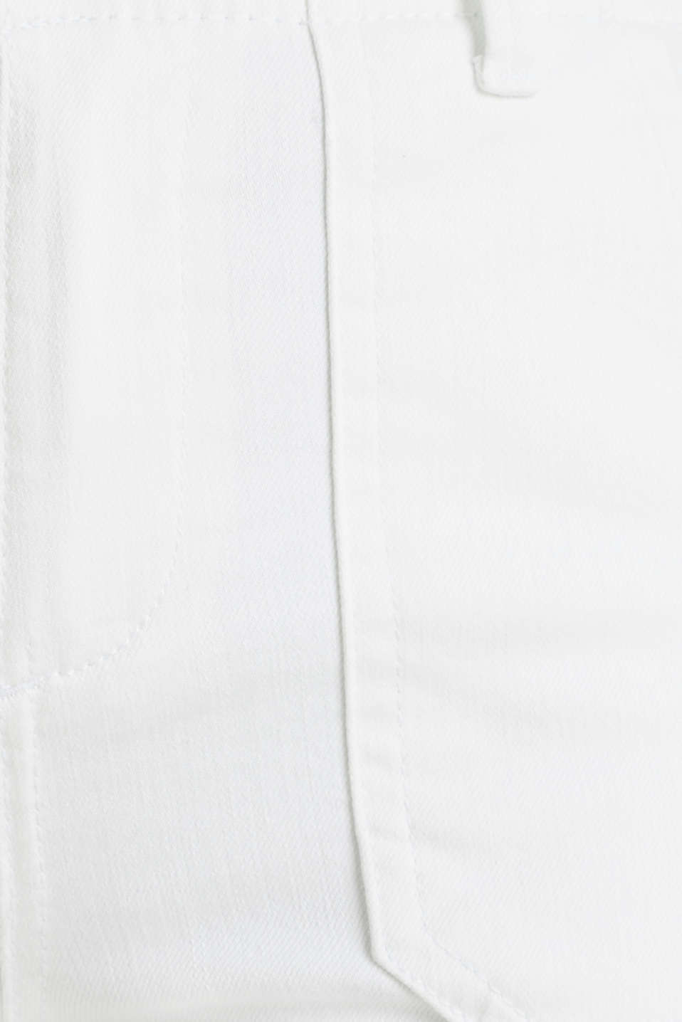 Knee-length trousers with hem zips, WHITE, detail image number 4
