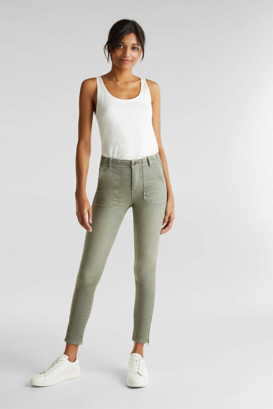 edc - Ankle-length trousers with zips