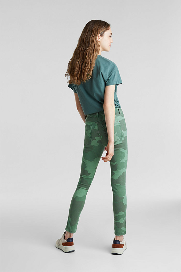 Camouflage-Pants mit Saum-Zippern, KHAKI GREEN, detail image number 3