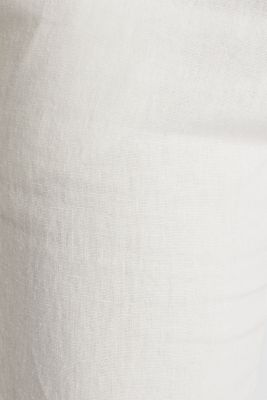 Linen blend: cargo trousers, OFF WHITE, detail