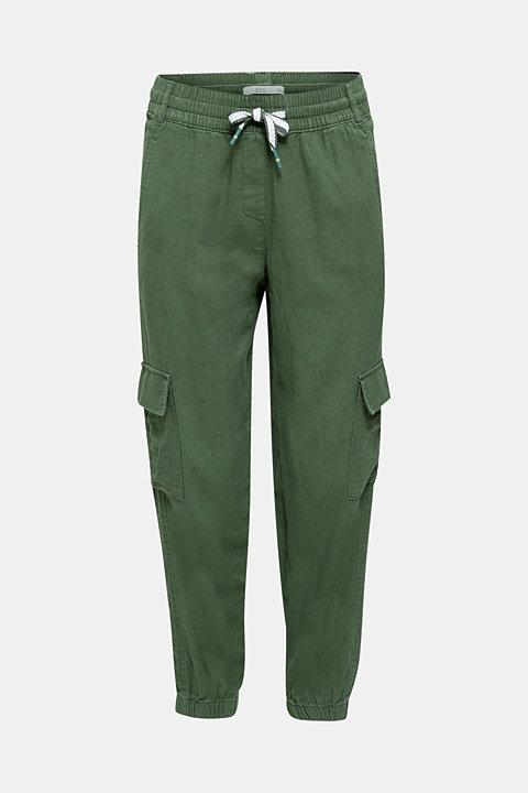 Linen blend: cargo trousers