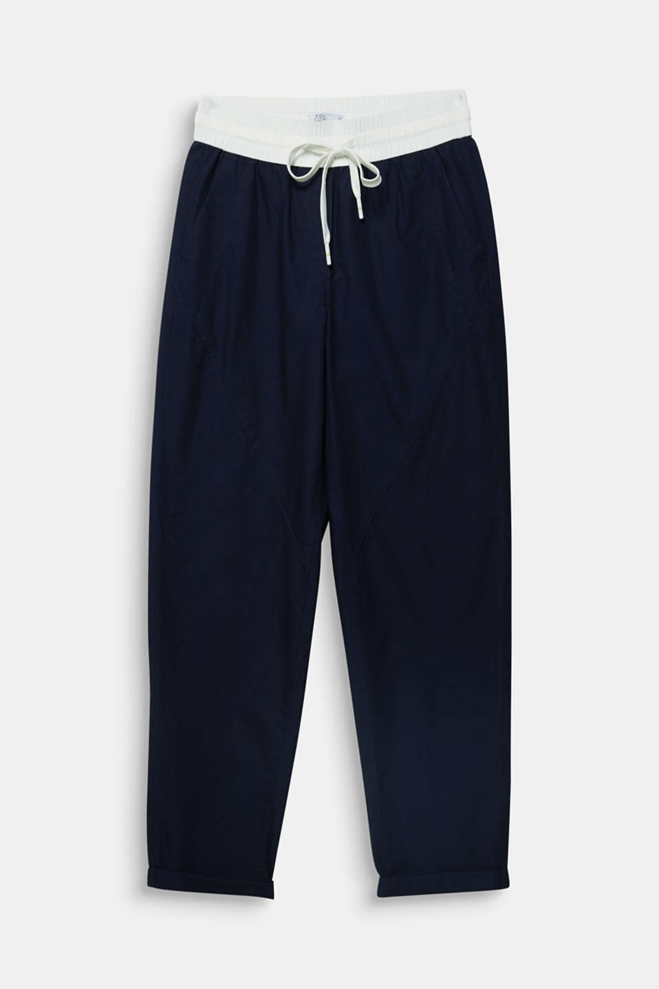 Tracksuit bottoms, 100% cotton, NAVY, detail image number 6