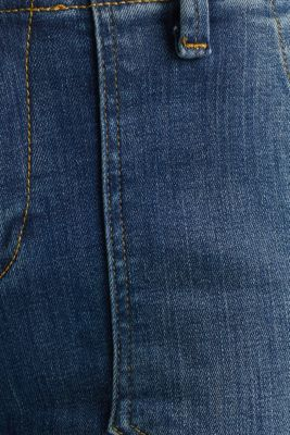 Ankle-length jeans with zips, BLUE MEDIUM WASH, detail